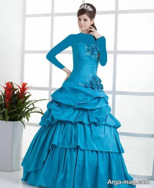 مدل لباس بلند برای عقد