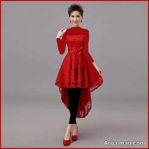 مدل لباس عقد شیک و قرمز