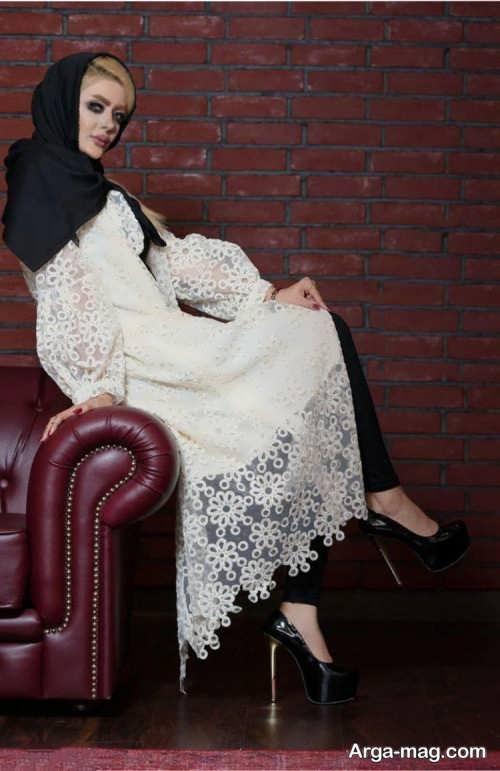 مدل مانتو مجلسی زیبا و شیک گیپور