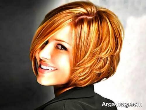 مدل براشینگ موی کوتاه و زیبا