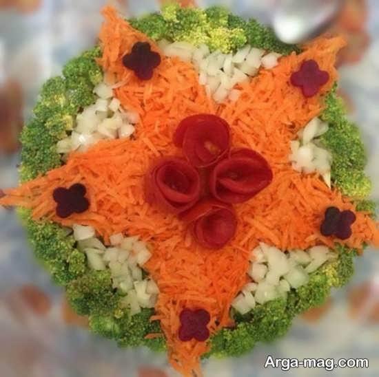 تزیین سالاد هویج و کلم