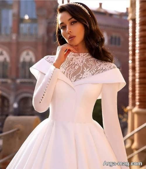 مدل پیراهن عقد جدید سفید
