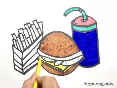 نقاشی جدید از غذای سالم و ناسالم