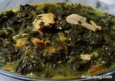 Plum stew 3 - طرز تهیه آلو اسفناج با مرغ یک خورش ایرانی دلپذیر و لذیذ