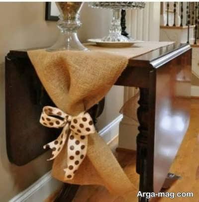 ساخت رومیزی پاپیونی با گونی