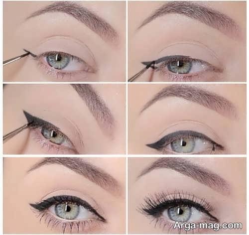 مراحل آرایش چشم ساده