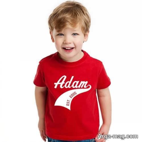 مدل تیشرت قرمز بچه گانه