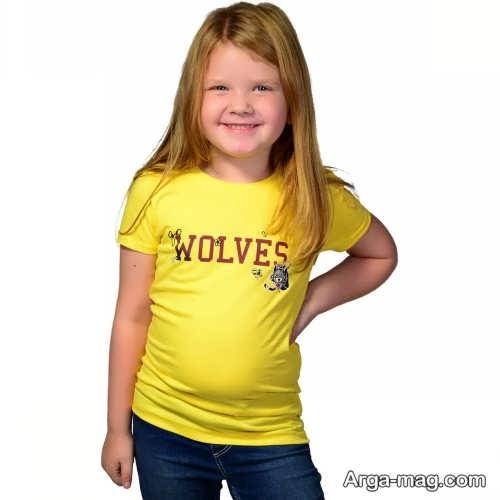مدل تیشرت زرد بچه گانه