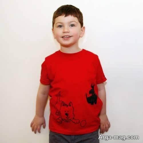 مدل تیشرت بچه گانه قرمز