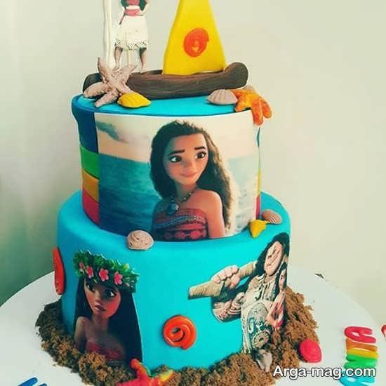 تزیین کردن کیک با تم موانا