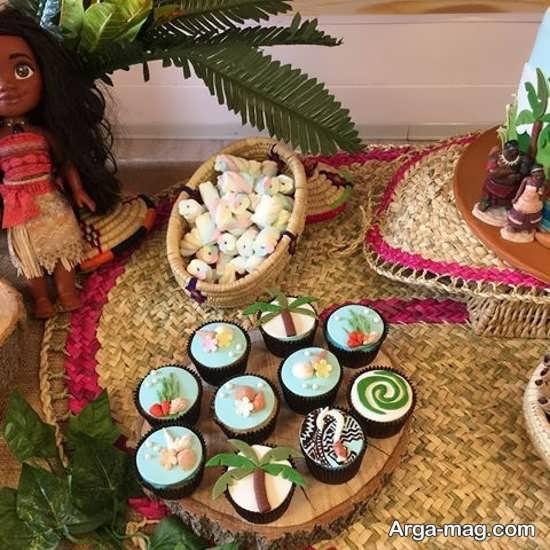تزیین کاپ کیک با تم موانا