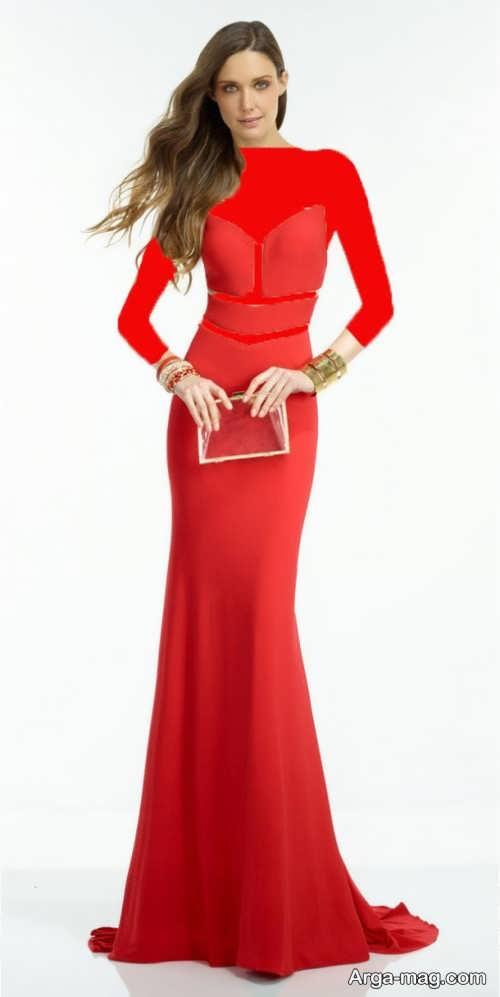 مدل پیراهن مجلسی زنانه قرمز