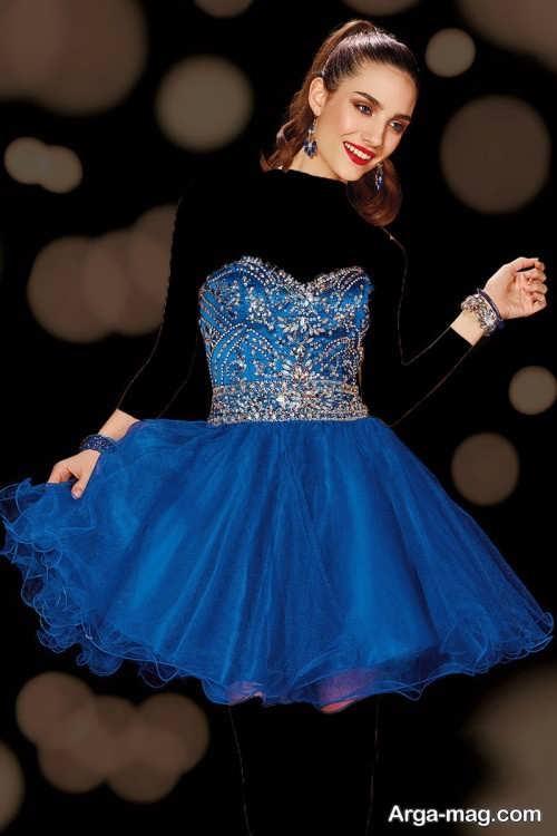 مدل لباس مجلسی زنانه کوتاه