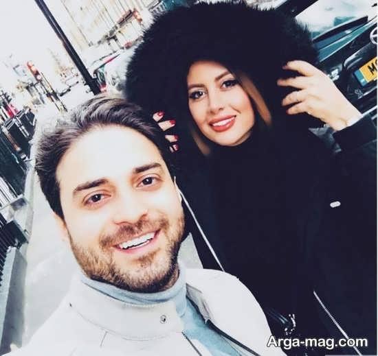 بابک جهانبخش و همسرش