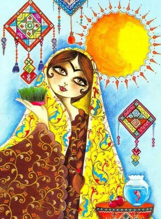 عکس اسلیمی برای پروفایل عید نوروز