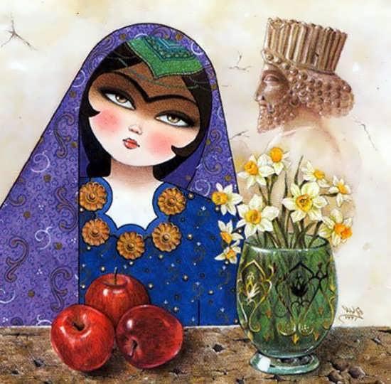 عکس پروفایل با طرح قدیمی عید نوروز