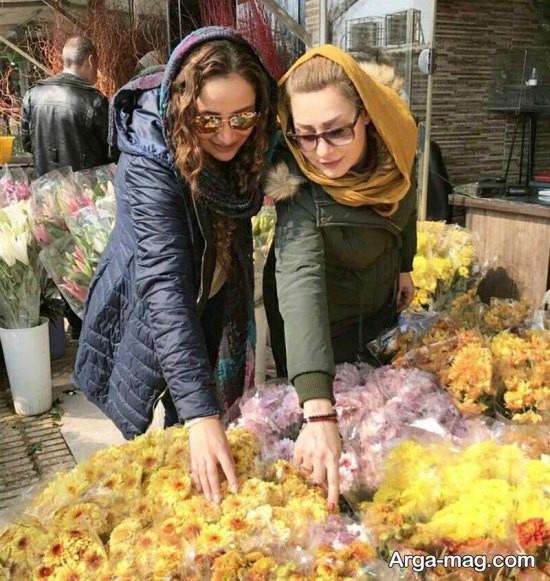 بهاره افشاری در بازار تهران