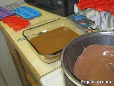 مراحل تهیه شکلات مغزدار