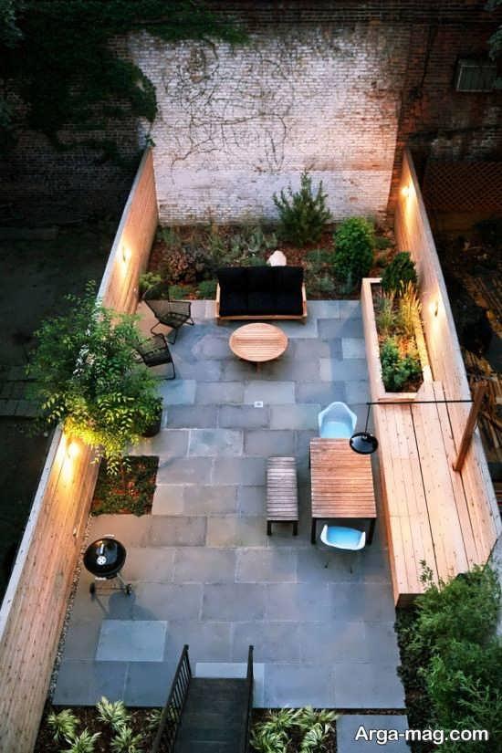 طراحی جذاب فضای سبز محوطه خانه