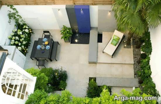 طراحی لاکچری فضای سبز