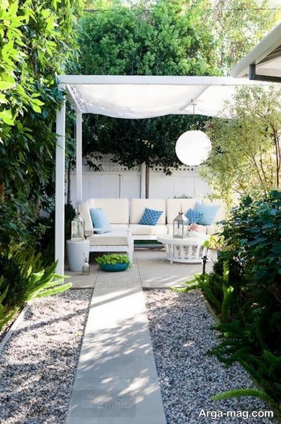دیزاین شیک و متفاوت فضای بیرونی منزل