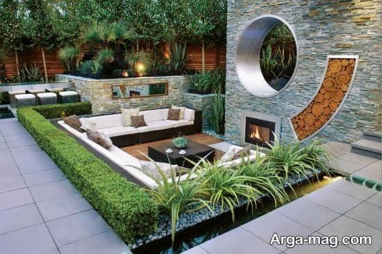 فضای سبز عالی حیاط