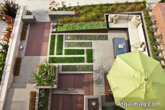 طراحی شیک فضای سبز برای حیاط
