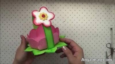 تزیین سبد هفت سین با شکوفه