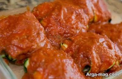طرز تهیه سس گوجه برای بادمجان حصیری