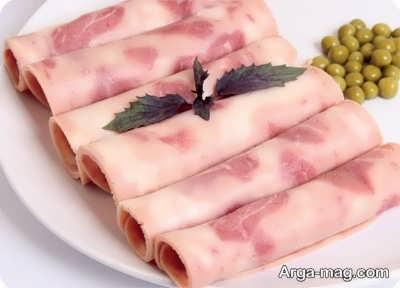 ژامبون گوشت لذیذ