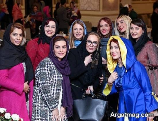 mahchehre 3 - حضور ماه چهره خلیلی و بازیگران در هفدهمین جشن برند لوازم آرایشی