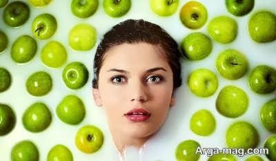 ماسک طبیعی سیب