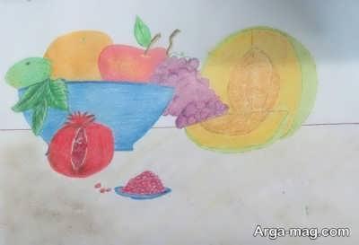 نقاشی خاص تغذیه سالم