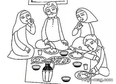 نقاشی قشنگ تغذیه سالم