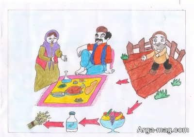 نقاشی درباره بهداشت تغذیه