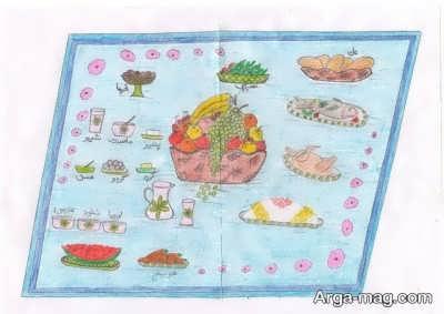 ایده نقاشی کردن برای نمایشگاه غذا