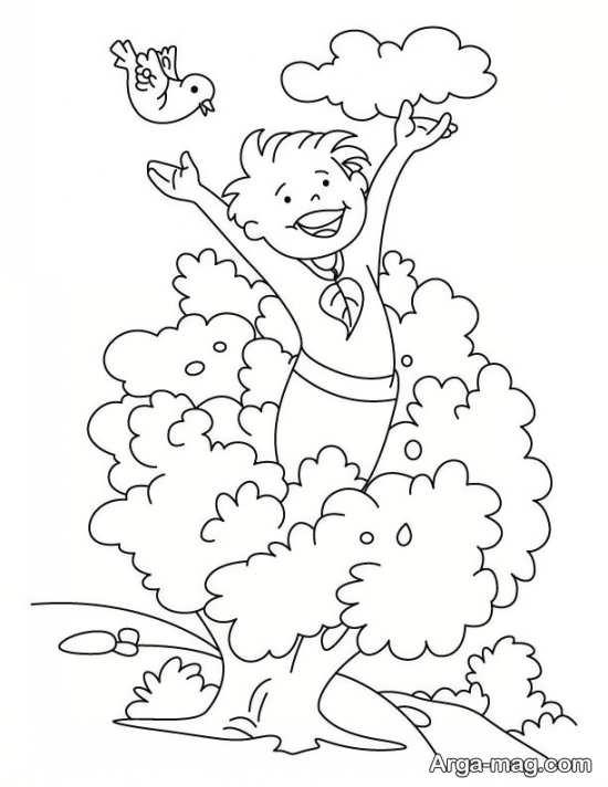 نقاشی دبستانی روز هوای پاک