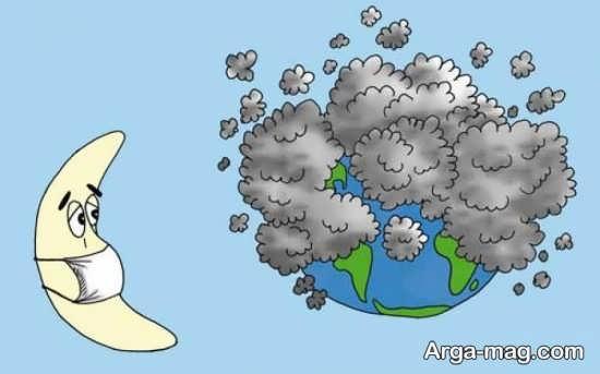 کاریکاتور مفهومی هوای پاک