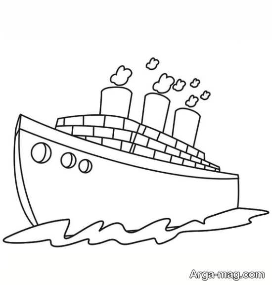 نقاشی کردن کشتی باری
