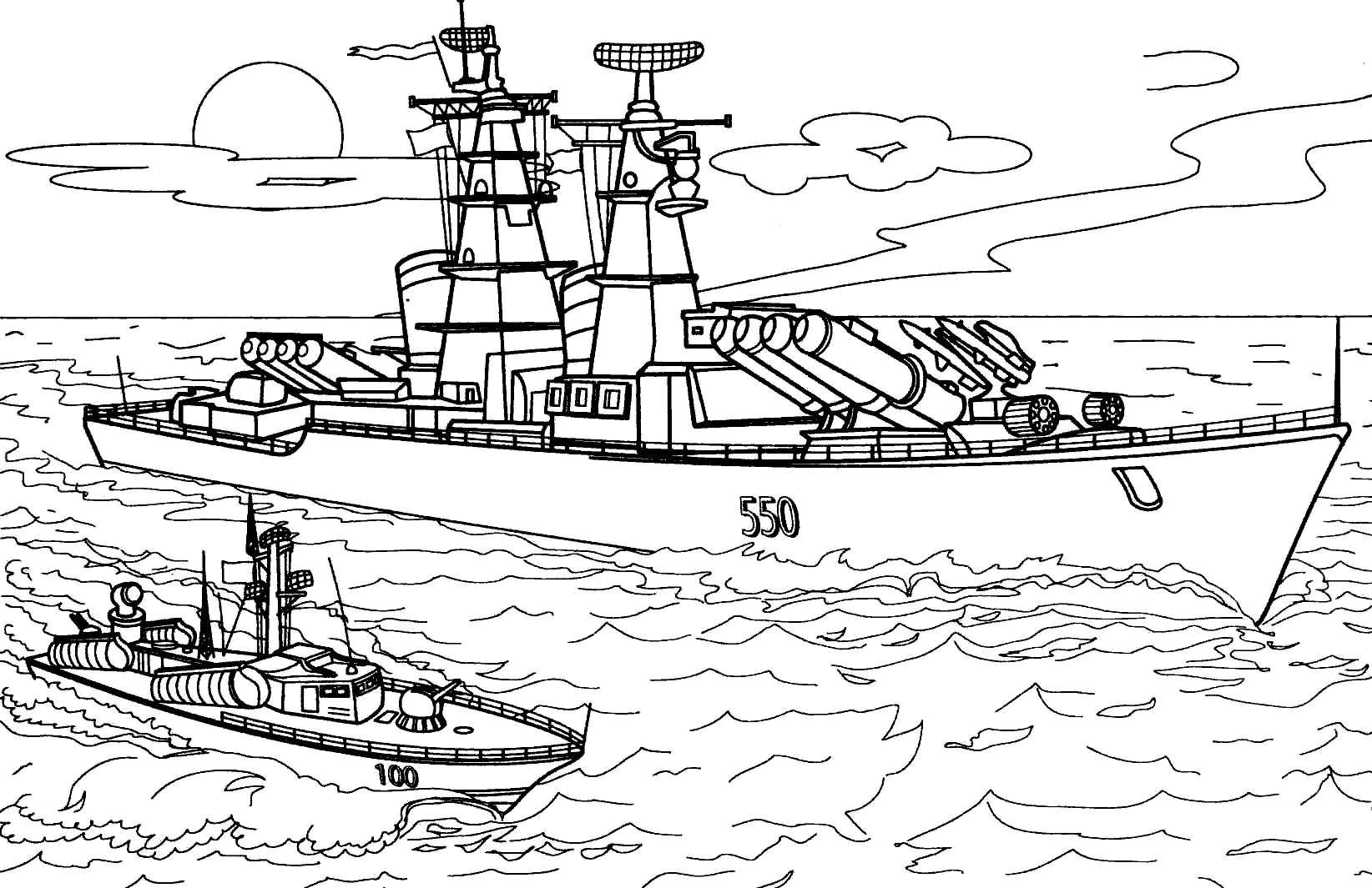 naval coloring pages - photo#19