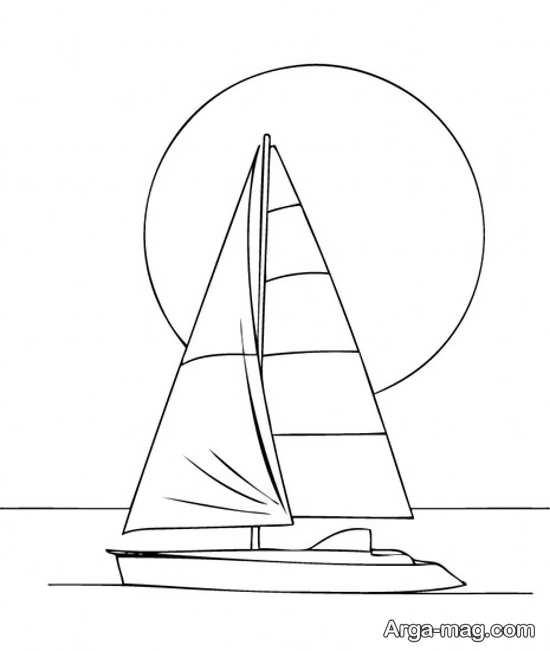 نقاشی قایق به روش راحت