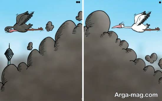 نقاشی مقایسه ای هوای پاک