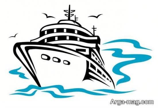 تصویر کشیدن قایق
