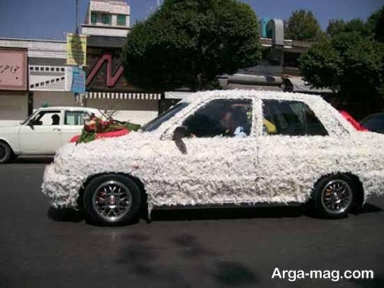 طراحی فوق العاده ماشین عروس با پر