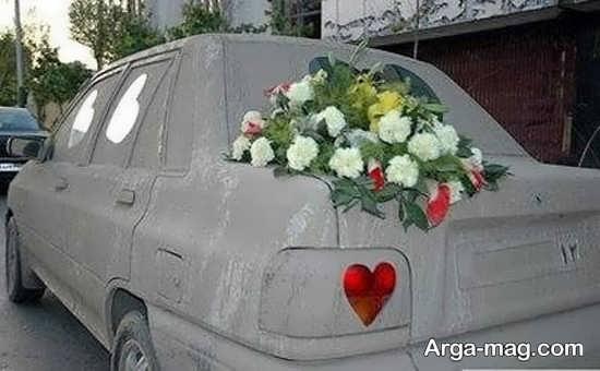 طراحی زیبای ماشین عروس