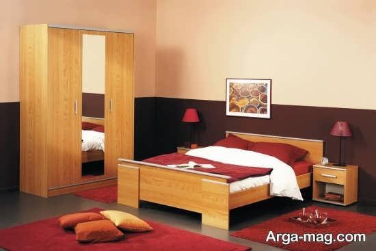 تخت خواب چوبی زیبا