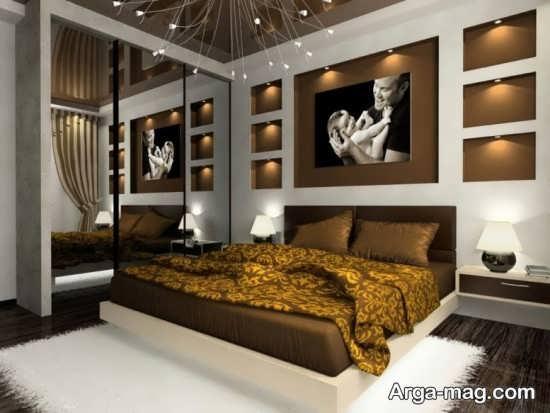 طراحی مدرن تخت خواب چوبی