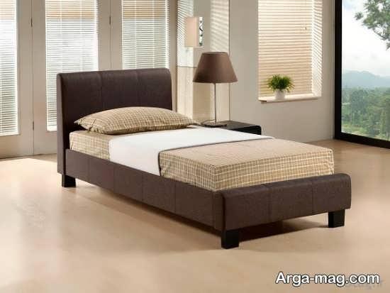 تخت خواب چوبی تک نفره