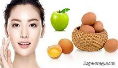 ماسکی از سیب و زرده تخم مرغ