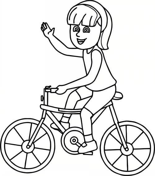 نقاشی کودکانه و زیبا دوچرخه